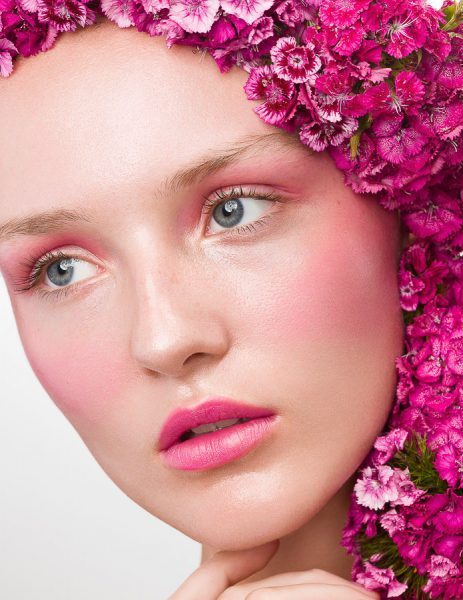 Beauty Editorial Flower Power Pink Makeup