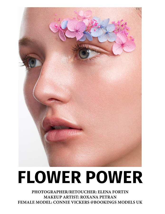 Beauty Editorial Flower Power by Elena Fortin