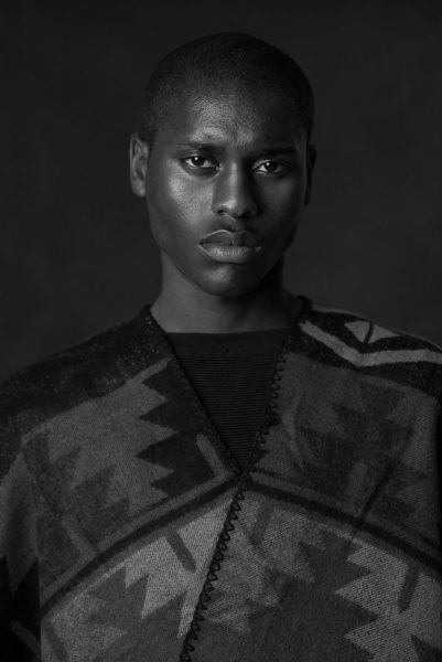 New york Male Model Fashion Portrait Black and white