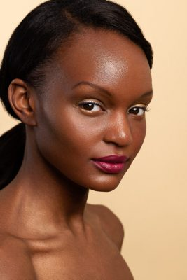 Black model natural makeup