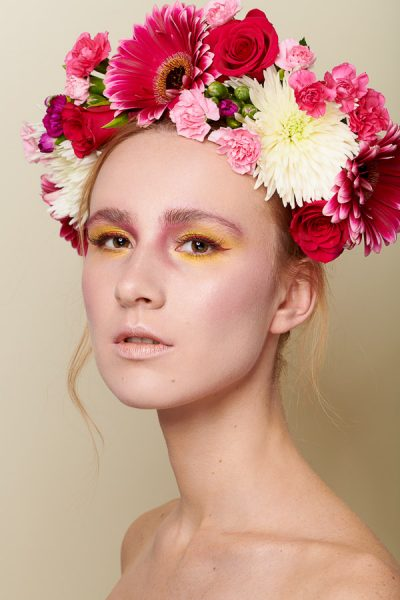 Spring Flower Crown Beauty Editorial